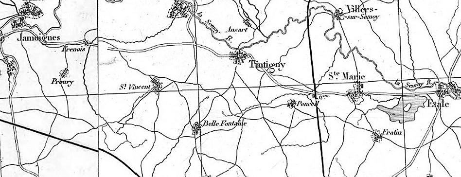 Assemblage extrait des Cartes d'état-major Mézières /Longwy