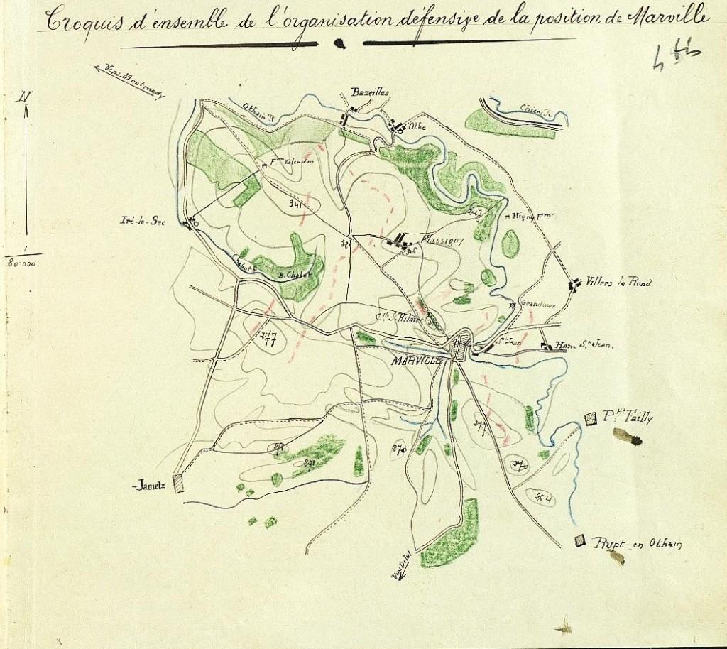 Source : J.M.O. [4] du 147e régiment d'infanterie (26 N 695/10 - J.M.O. 1er août-15 octobre 1914) http://www.memoiredeshommes.sga.defense.gouv.fr
