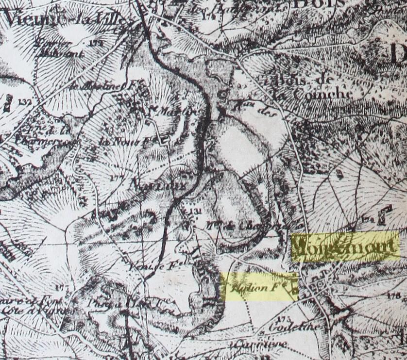 Carte d'État Major (Supplément à l'Écho de l'Argonne) ayant appartenu à Émile Lobbedey