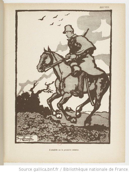 """Extrait de """"La Grande Guerre par les artistes"""" - par Hermann-Paul."""