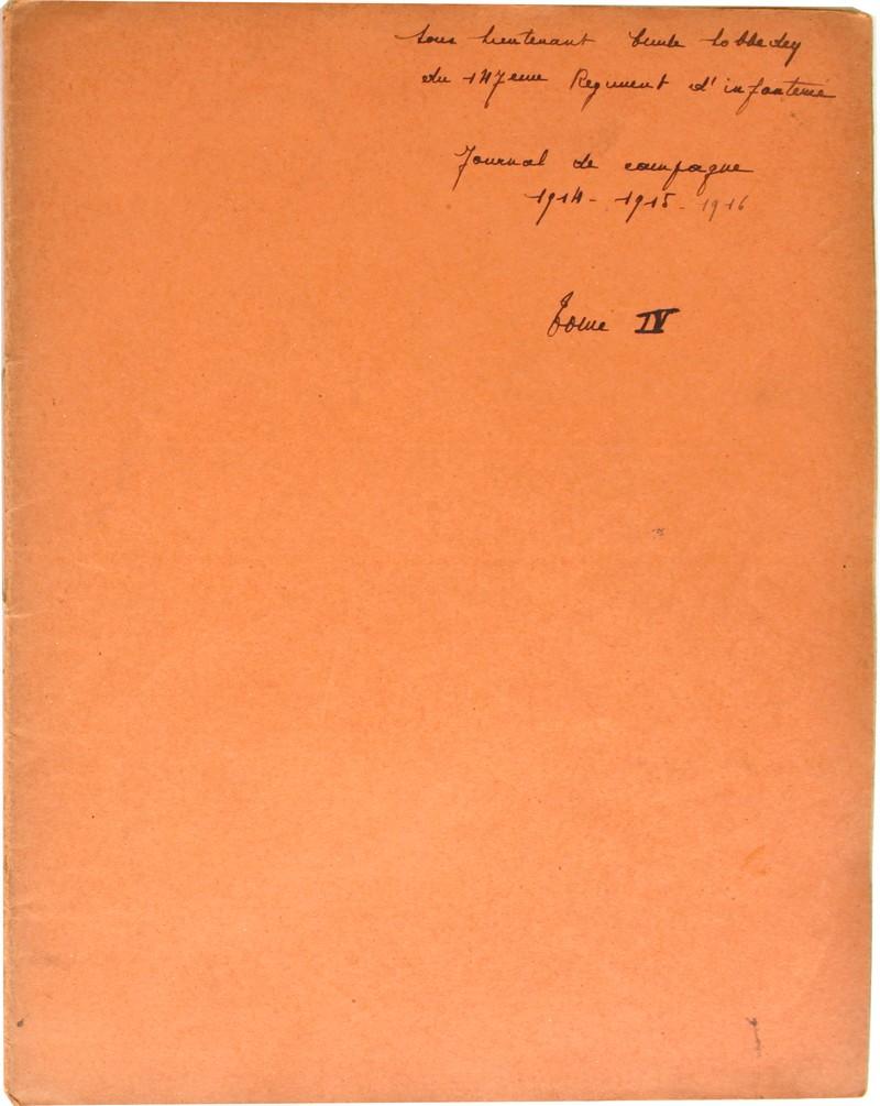 Couverture du cinquième cahier intitulé Tome IV