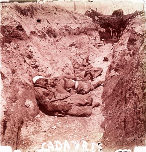 Cadavres dans une tranchée (Marne)