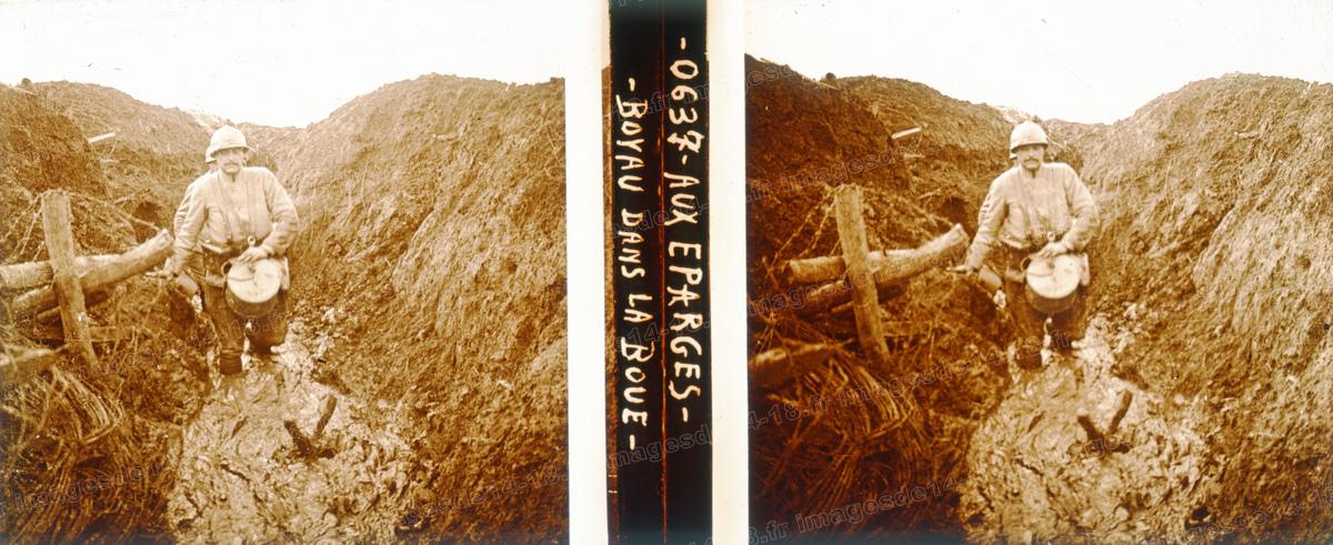 Boyau dans la boue (Les Éparges)